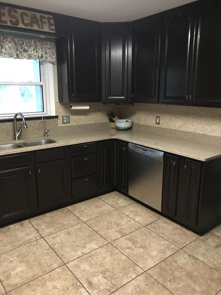 General Finishes Java Gel Stain kitchen cabinets | Cocinas