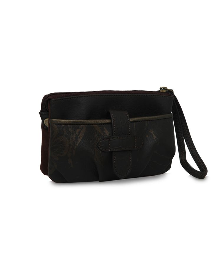 MP Soar Lisa Brown: A spacious brown multi pocket pouch by Baggit