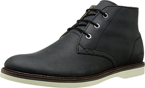 Lacoste Men's Sherbrooke HI 116 1 Chukka Boot, Black, 10 M US