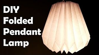 DIY Paper Folding Lamp Conical Structure Hexagonal Base - YouTube