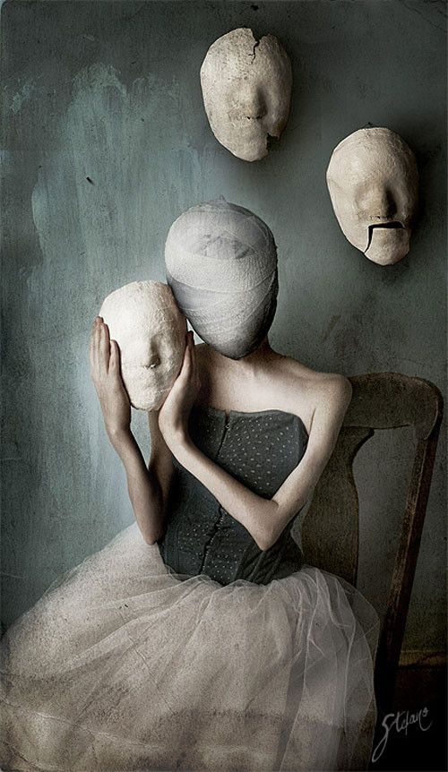 Different masks for different alters  Bizarre Surreal and Dark Art Pictures | Smashing Magazine