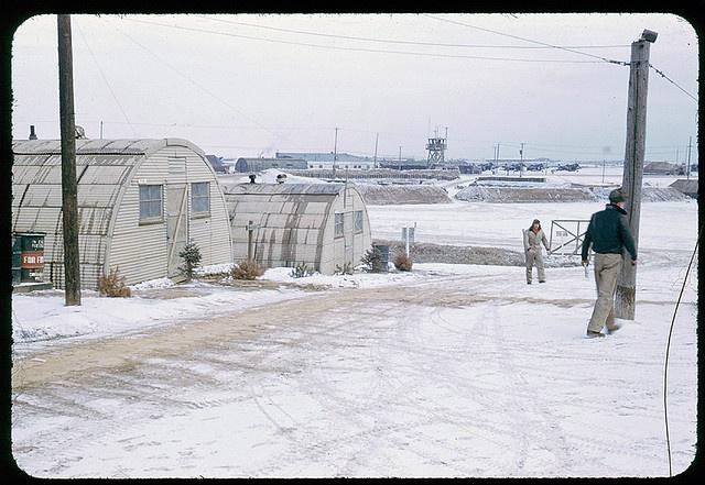 K6 Air Base in winter during Korean War: Military History, K6 Air, Arcadia Waits, Korean War, Photo, Humphreys History