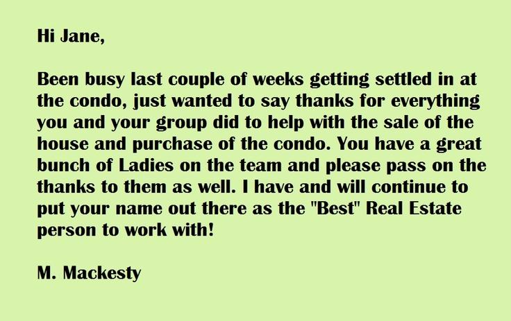 Team Jane Kelly Testimonial.