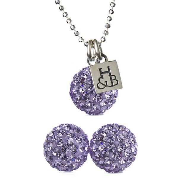Violet Sparkle Ball Earring Amp Necklace Set Necklace Set