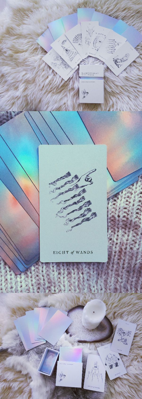 """I've collected tarot decks for years, and lately I'm drawn to elegant, minimalist imagery. This deck is gorgeous, and the readings I've done with it really feel deep."" - Jayde"