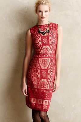 Korovilas Lace Panel Sheath #anthrofave #anthropologie #women #fashion