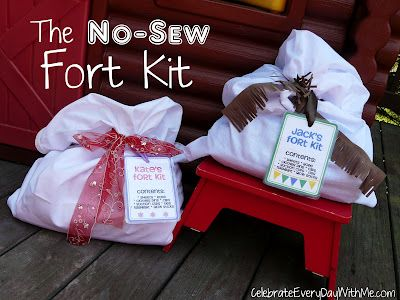 This is a keeper!! Great gift for giving to Grandchildren, children, friends, etc. Do It Yourself: No-Sew Fort Kit