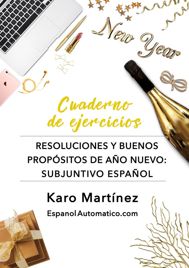 """FREEBIE especial """"Resoluciones de año nuevo y el subjuntivo español"""" descargalo http://www.espanolautomatico.com/podcast/031 Learn Spanish / Spanish grammar / Spanish subjunctive"""