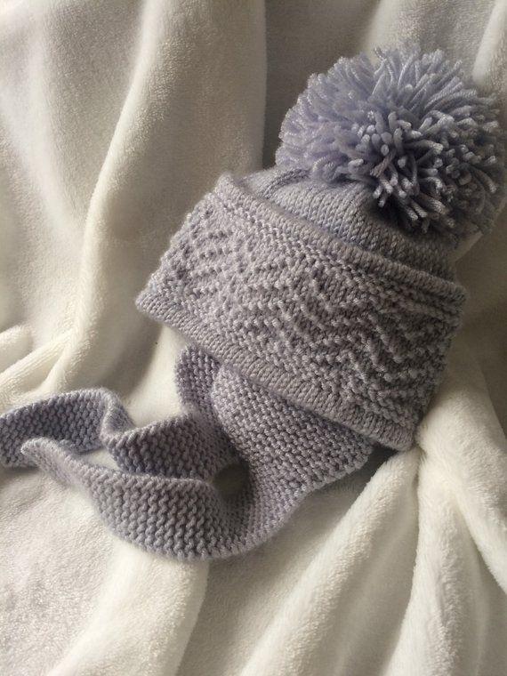 fd0dd9bd #baby boys ear flap hat #knitting pattern for baby boys hat #pdf knitting  pattern for boys and girls hat #warm #cosy #pompom #wool #earflap #warm  #photoprop ...