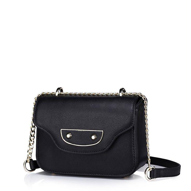 Mini geanta dama, din piele naturala, culoarea negru