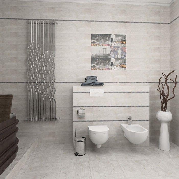 Практични съвети при избора на плочки за баня. Малки помещения с малки плочки, светли тонове и ограничена орнаментика.
