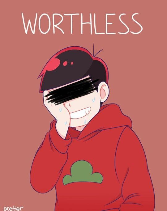 Osomatsu-san- Osomatsu #Anime「♡」 Hurtful Words NO NO NO NONE OF YOU BROTHERS ARE WORTHLESS, USELESS, OR ANY OF THAT SHIT. ALL OF YOU MEAN SOMETHING, AND STILL HAVE HOPE. DON'T BE SAD JUST BECAUSE OF A WORD.