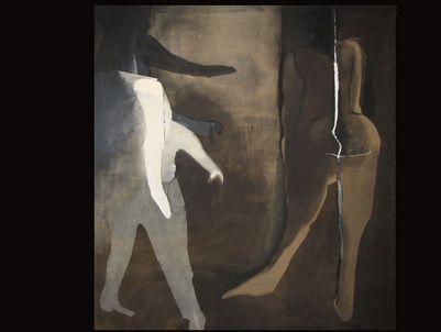 Teresa Pagowska, Magic Figures, 1979, oil on cavas 130 x 120