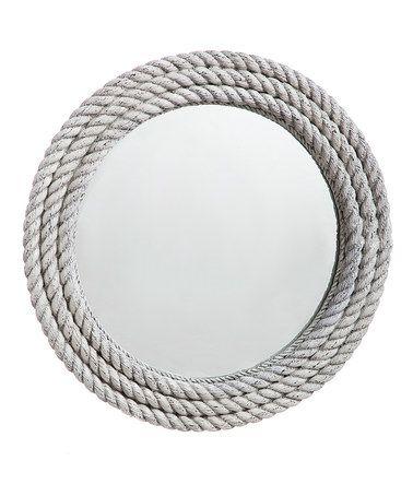 Another great find on #zulily! Aged White Rope Mirror #zulilyfinds