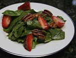 Spinach Salad With Strawberries and Pecans - Our first foray into trying something new. YUM!!!