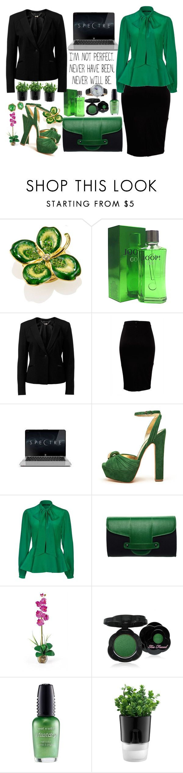 """business woman"" by tijanna ❤ liked on Polyvore featuring Estée Lauder, Joop, Forever New, St. Eve, Mimco, SLY 010, Torula Bags, Nearly Natural, Too Faced Cosmetics and Wet n Wild"