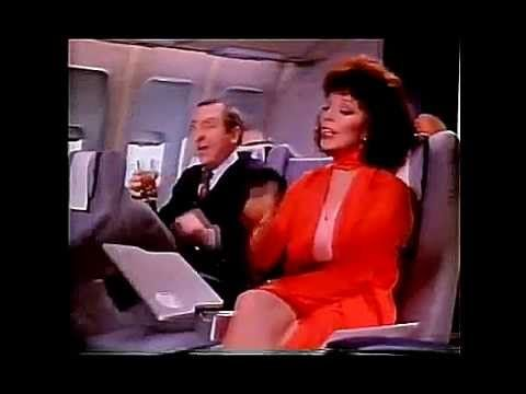 Cinzano Airline TV Advert - Joan Collins & Leonard Rossiter