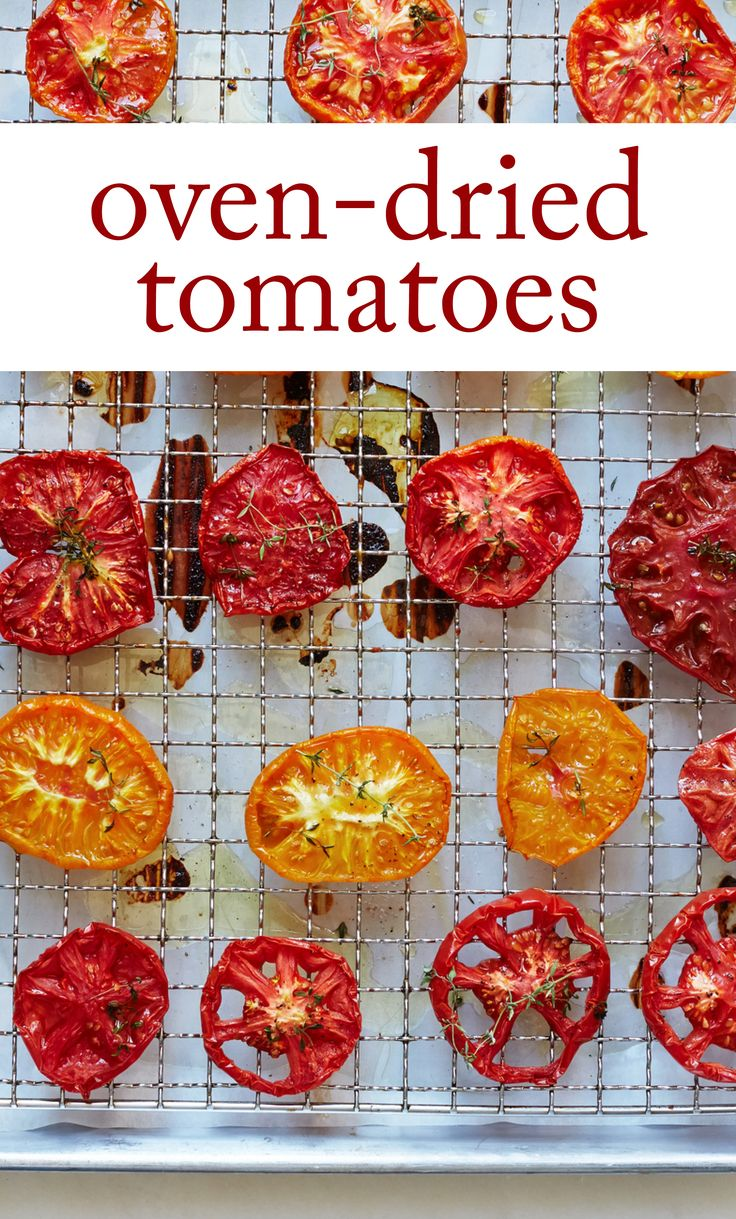 Oven-Dried Tomatoes | Martha Stewart Living - These flavorful tomatoes ...