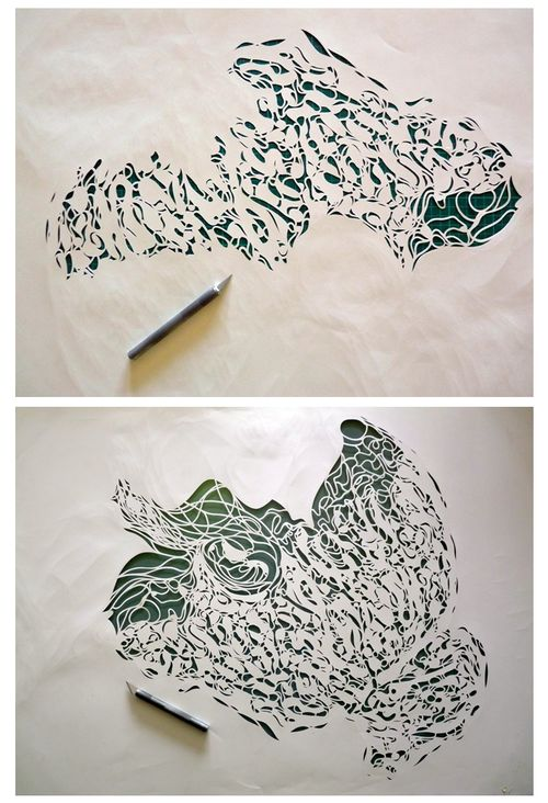 Progression of a paper cut by Kris Trappeniers