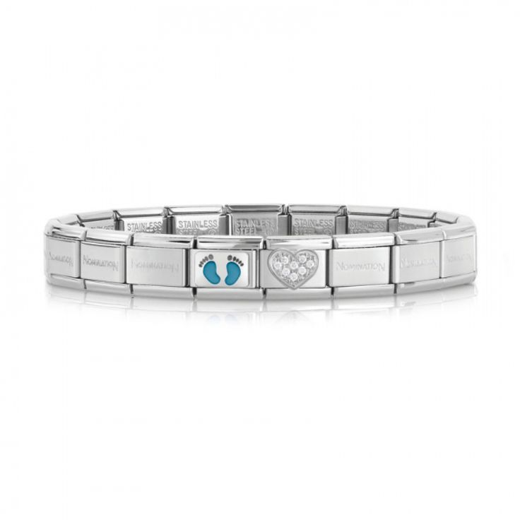 Newborn Boy ready-to-wear Composable Classic Bracelet #nominationitaly #composable #bracelet