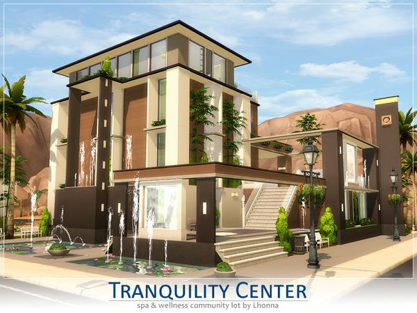 The Sims Resource: Tranquility Center by Lhonna • Sims 4 Downloads                                                                                           More