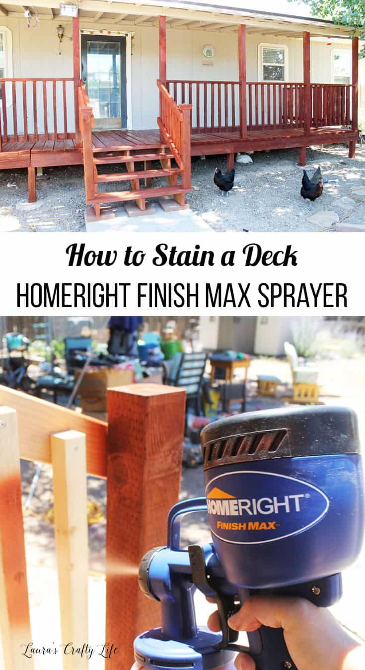 How To Stain A Deck Homeright Finish Max Paint Sprayer Staining Deck Diy Deck Staining Deck Paint