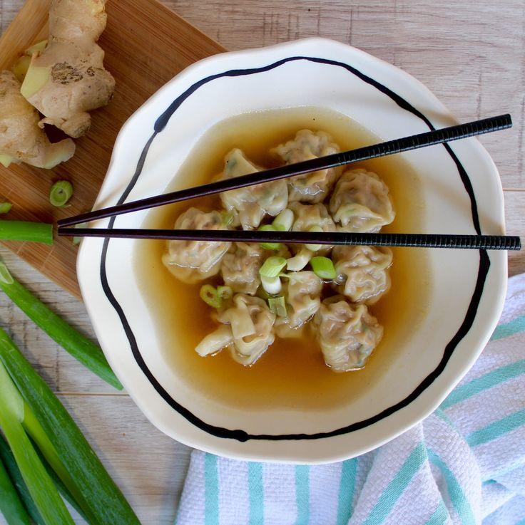 Pork and Vegetable Wonton Soup