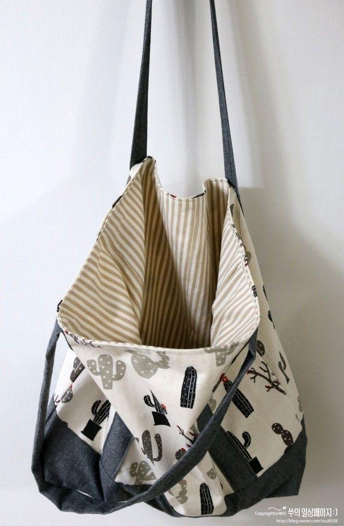 Tuto couture : réaliser un sac fourre-tout en suivant son pas à pas en photographs , facile à coudre !