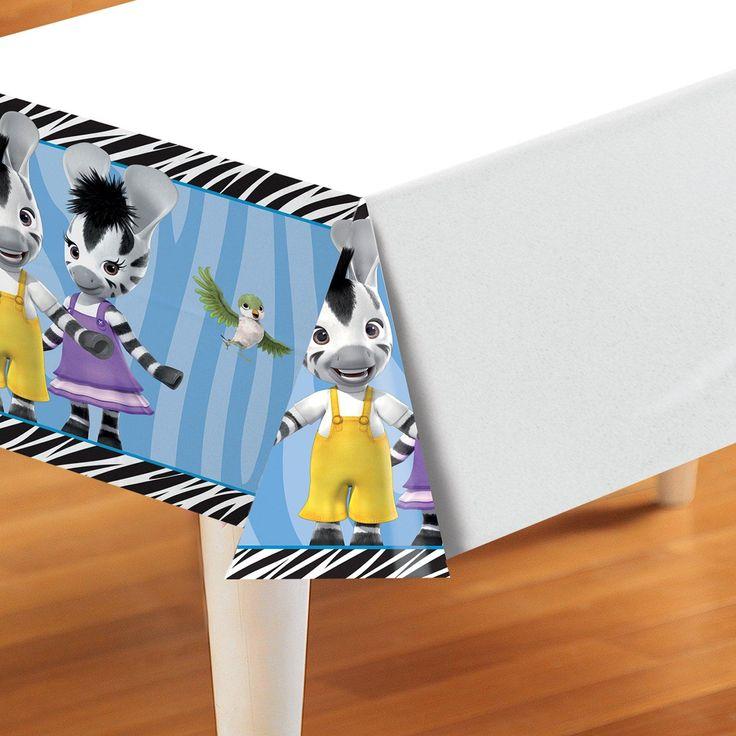 The perfect tablecover for a Zou the zebra birthday celebration! #Zou #Party #Birthday #Zebra