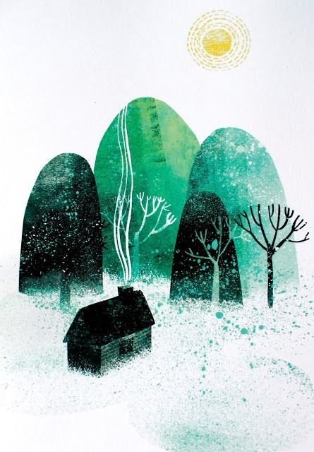 'Home by the Mountains' by Finnish illustrator Essi Kimpimäki, a Finnish freelance illustrator currently based in Glasgow.
