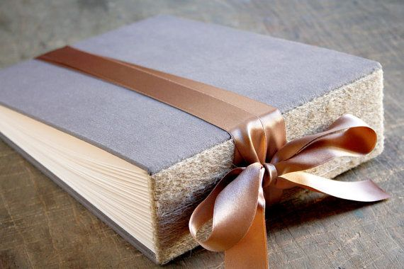 Large Rustic Wedding Photo Album Gray Guest Signing by Albumeria, $75.00