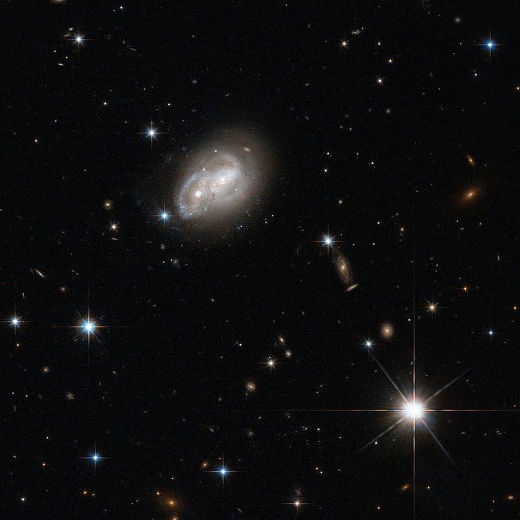 Hubble Eyes Galaxy as it Gets a Cosmic Hair Ruffling