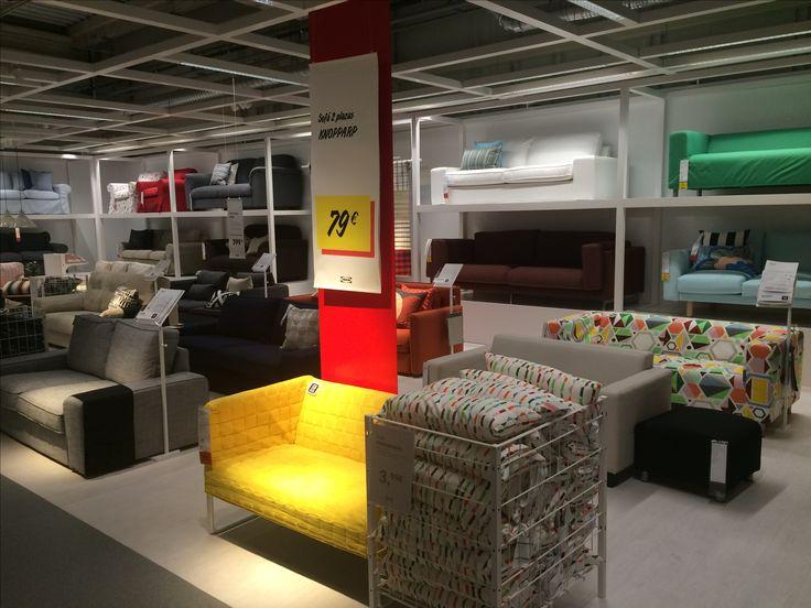 IKEA Alcorcon, Madrid, sofa overview