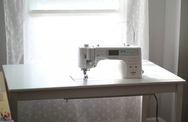 How to countersink your sewing machine into a table DIY IKEA Sewing Table Tutorial | from Marta with Love
