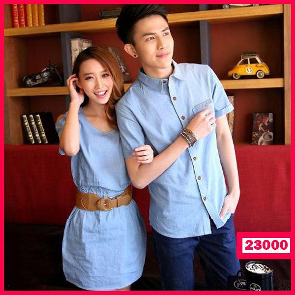 """Dress Denim Couple Blue Jeans Kode : 23000  Harga : 125.000  Size :  – Pria : LD=53cm P=72cm  – Wanita : LD=47cm P=83cm  ( include Belt )  NB : PADA BAGIAN KANTONG KEMEJA TIDAK TERDAPAT WARNA COKLAT  Bahan : Denim  ============== yukk order dengan sms kami di 089-77795217 atau bbm di 237B54D2 """"DICARI RESELLER DAN DISTRIBUTOR DI INDONESIA"""""""