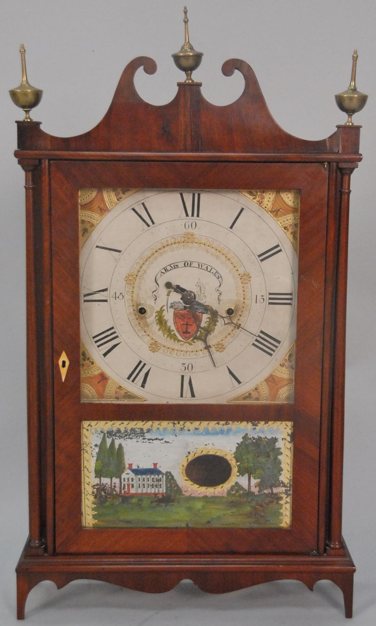 Seth Thomas off center pillar and scroll clock with original paper label and wooden works. ht. 28in. - Realized Price: $2,950.00