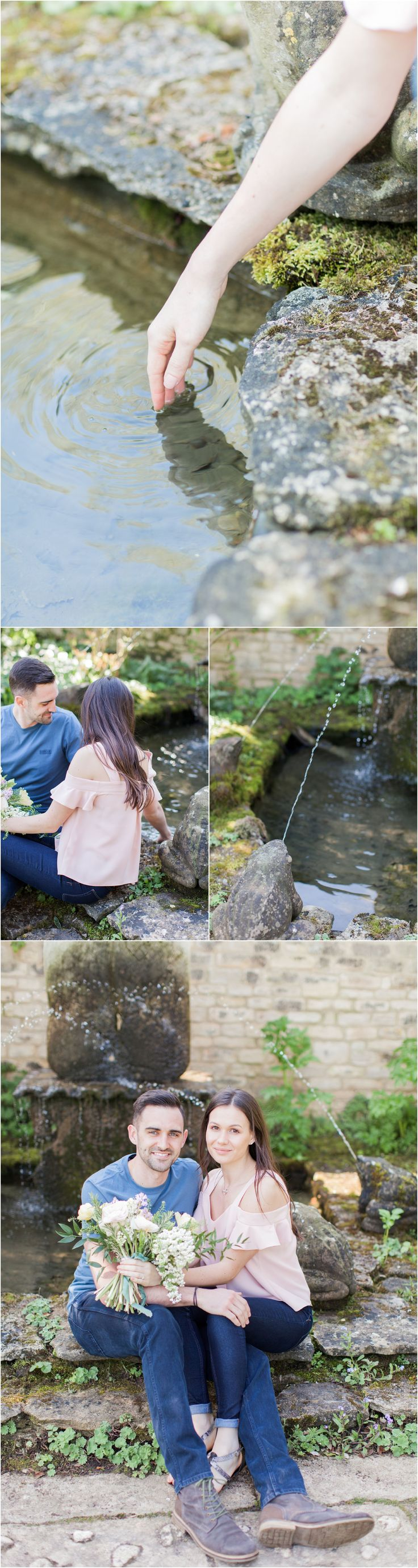 Bibury Cotswolds engagement photoshoot, light and airy fine art photography, Bowtie and Belle Photography, Barnsley House
