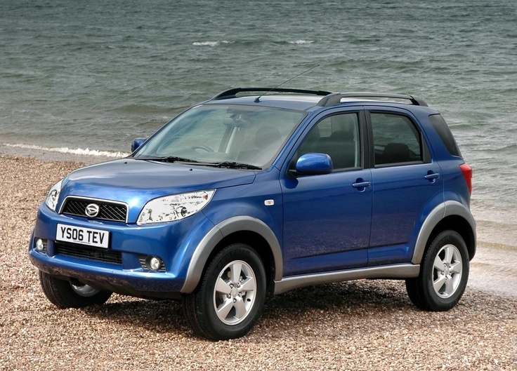 2007 Daihatsu Terios  slightly larger than the Jimny (all time 4x4 with locking center diff)
