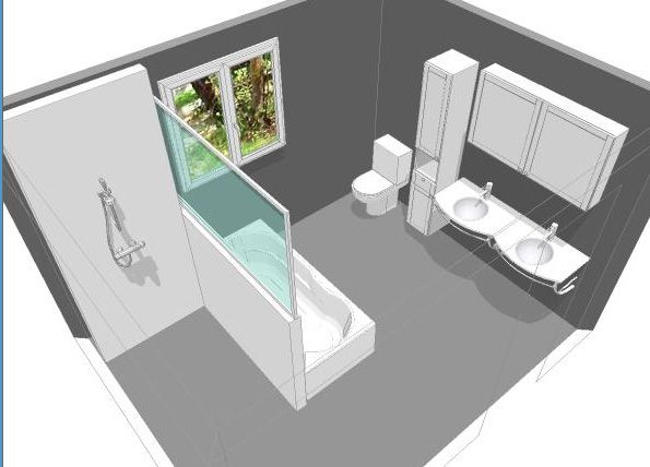 Bien connu Les 25 meilleures idées de la catégorie Plan salle de bain sur  ZO13