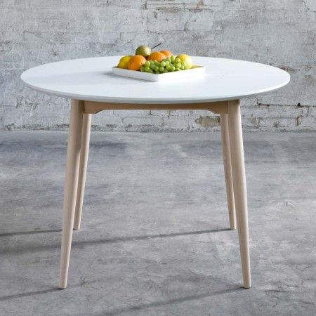 Table ronde avec rallonge design danois