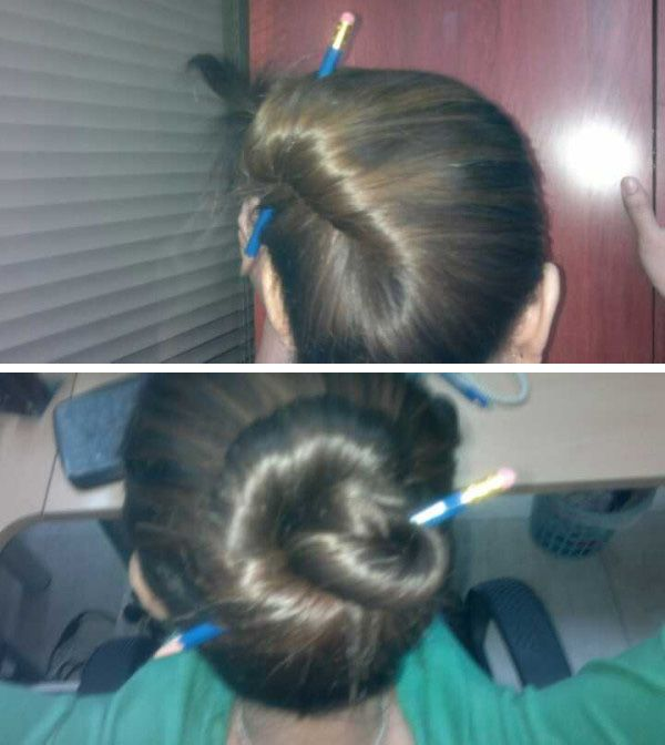 chic pony twisted by a pencil