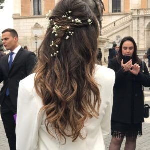 lovely romantic hair with flowers and braids by Janita Helova www.janitahelova.com