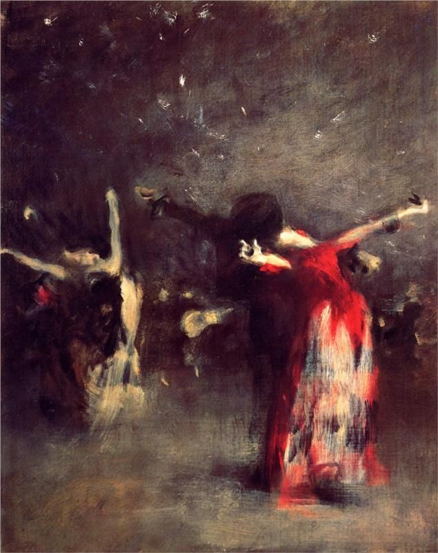 Study for The Spanish Dance - John Singer Sargent, c.1879
