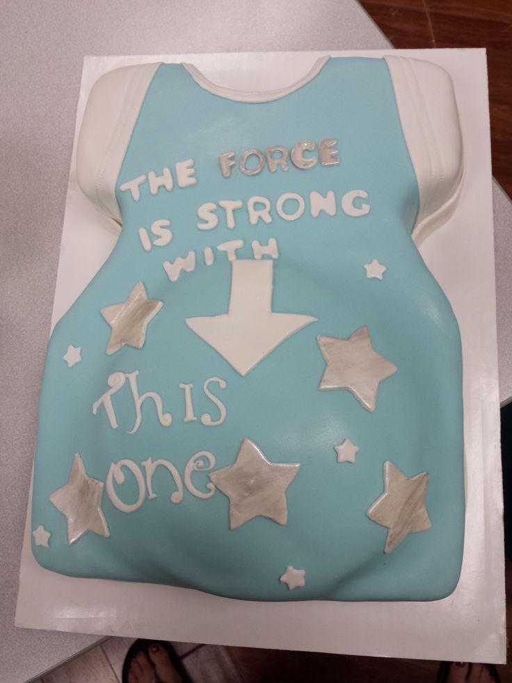 Star Wars Baby Shower Cake, Baby Bump Www.shorecakesupply.com