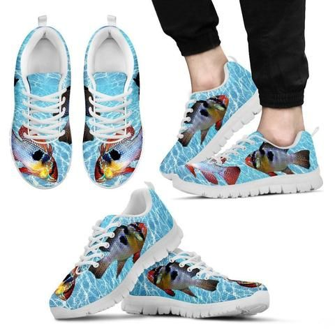 Buy Fish #PrintedRunningShoes for men or women online from My dogcloset on heavy discount price in US.  https://mydogcloset.com/collections/fish-printed-running-shoes