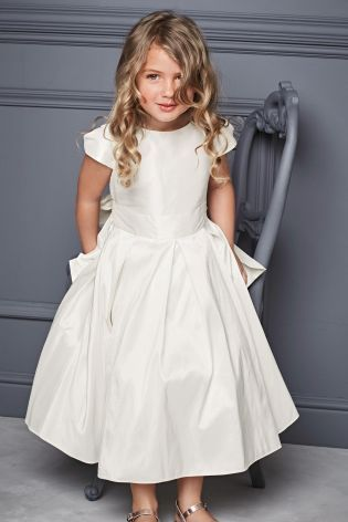 Buy Ivory Premium Silk Bridesmaid Dress (3-12yrs) from the Next UK online shop