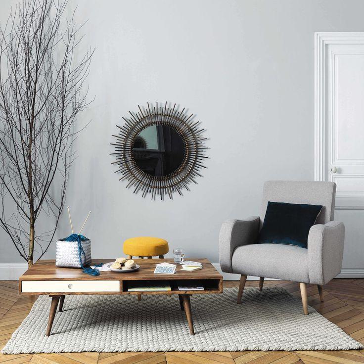 miroir en bambou h cm isis maisons du monde with table basse bambou maison du monde. Black Bedroom Furniture Sets. Home Design Ideas