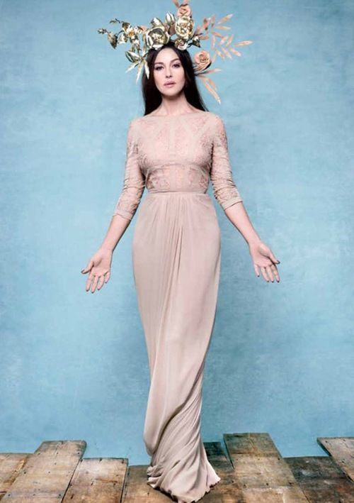 Monica Bellucci pictured as a goddess by Rankin, on the cover of Hunger magazine