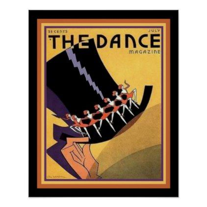 "#Art Deco ""The Dance"" Cover (1920s) 16 x 20 Poster - #deco #gifts"