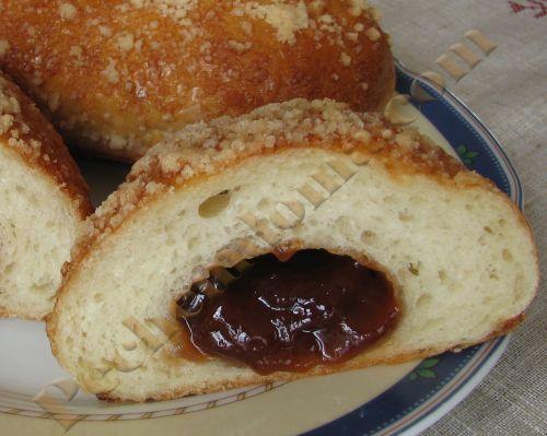 Латвийские булочки с повидлом